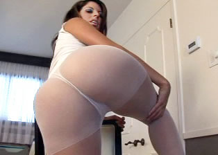 White and Tight Pantyhose